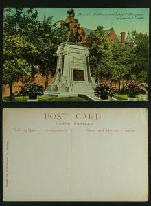 Montreal Strathcona and Soldier's monument  c 1910 s