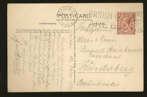 UK Postmarked 1926 London WI Tower Bridge & Tower of London Photo Postcard