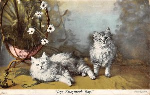 Cat Post Card One Summer's Day PU Unknown