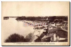 Langon Old Postcard Panoramic view of the Garonne