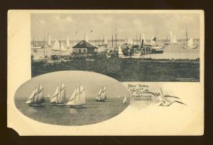 Martha's Vineyard, Massachusetts/MA/Mass Postcard, New York Yacht Club, Cape Cod