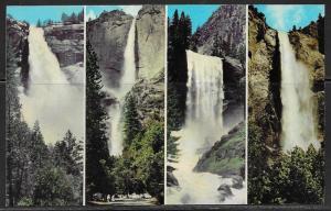 California, Yosemite National Park, Four Waterfalls, unused