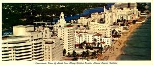 FL - Miami Beach. Panoramic View, Hotel Row (3.5 X 8.25).