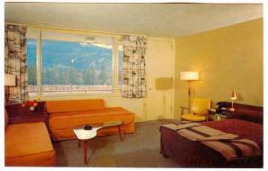 Interior,  The luxurious Andrew Motor Lodge,  Jasper National Park,  Jasper, ...