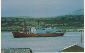 Falkland Islands; 1982 ; Port Stanley with Endurance