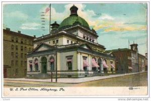 US Post Office, Allegheny, Pennsylvania, PU-1909