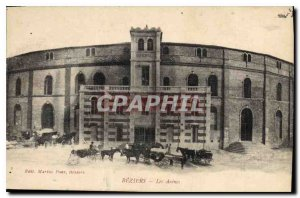 Old Postcard Beziers Les Arenes