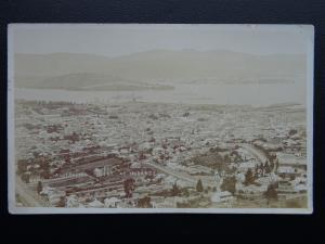 Australia Navy Tasmania HOBART WW1 Australian Fleet in Harbour c1914 RP Postcard