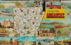Greetings From Arkansas With Map