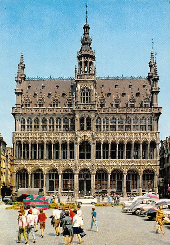 Belgium Brussels Grand Square and King's House Front view Auto Cars