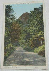 Vintage Postcard, White Mountains New Hampshire, Franconia Notch Road