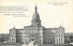 Easton Rapids Michigan~Derby Medicine Co~Kidney Pill for State Senators~1910 Adv