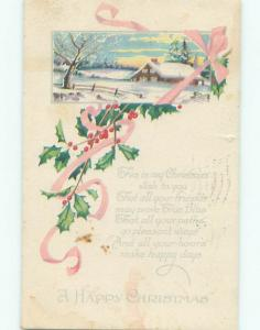 Divided-Back CHRISTMAS SCENE Great Postcard AA0320