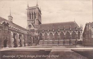 England Cambridge St John's College First Court & Chapel