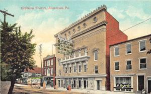 Allentown PA Orpheum Theatre Matinee All Star Vaudeville Postcard