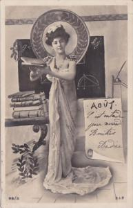 Month Of The Year August Glamorous Lady 1903