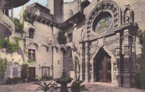 St Francis Atrio Patio Mission Inn Riverside California Handcolored Albertype