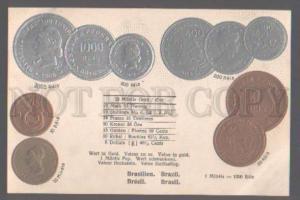 105115 Brazil COINS VINTAGE EMBOSSED Erhard PC
