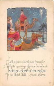 Santa Claus Postcard Old Vintage Christmas Post Card Stamp on back