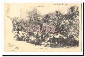 Tonkin Indochina Hanoi Old Postcard Village paper
