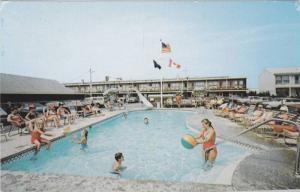 Swimming Pool,  Janmere Motel,  Hampton Beach,  New Hampshire,   PU_1989