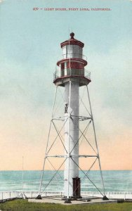 Light House, Point Loma, California c1910s Vintage Postcard