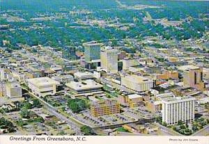 North Carolina Greensboro Aerial View 1988