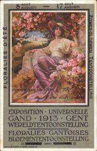 Gand Belgium 1913 Universelle Expo Flower Floralies Beautiful Woman PC
