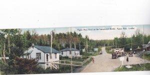 Tri-Fold postcard; Pigeon River Hotel, Pigeon River, Ontario, Canada, 1910s