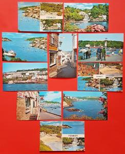 Cornwall Fowey Postcards Set of 10 Different NEW Vintage Cards