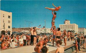 1950s Muscle Beach Santa Monica California 1950s Postcard Colorpicture 3371