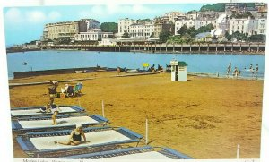 Vintage Postcard Young Girls on Trampolines at Marine Lake Weston Super Mare