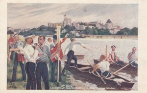 Off Duty , Coldstream Guards boating on the Thames , WINDSOR , England , 00...