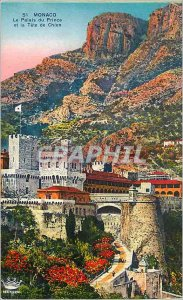 Old Postcard Monaco The Prince's Palace and the Dog Tete