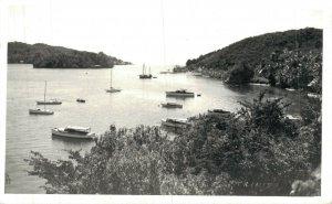 Trinidad Partial View Boats and Ships RPPC 06.96