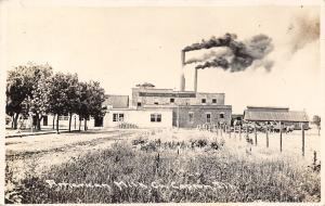 Capron Illinois~American Milk Company Factory~Cans Outside~Smokestacks~1912 RPPC