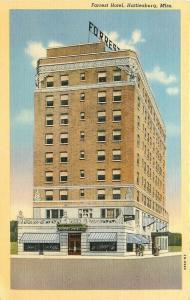 MS, Hattiesburg, Mississippi, Forrest Hotel, Curteich No. 2B-H990