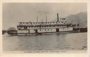 RP Postcard Paddle Wheel Steamer Tutshi W.P.YR. Carcross, Yukon, Canada~127717