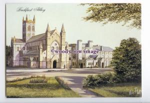 tq2889 - Devon - Early Buckfast Abbey, Artist - Kevin Platt- Postcard