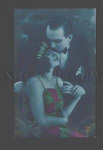 093250 Kiss of BELLE Woman & Dandy Vintage PHOTO tinted Amag