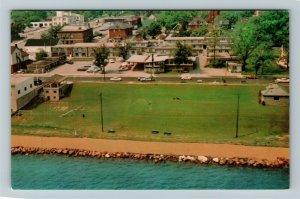 Barrie ON-Ontario Canada, The Bayshore Motor Hotel, Chrome Postcard