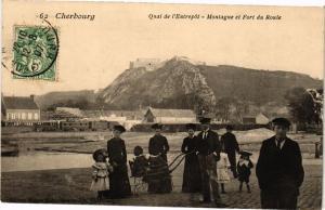 CPA CHERBOURG - Quai de l'Entrepot - Montagne et Fort du Roule (246117)