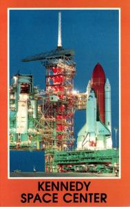 Florida John F Kennedy Space Center Space Shuttle Columbia On Pad 39A At Dawn