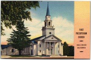 First Presbyterian Church - Inglewood California postcard