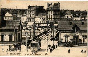 CPA CHERBOURG - Vue sur le Pont Tournant (128193)