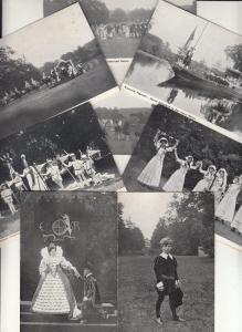 WARWICK PAGEANT ceremony festival procession medieval costumes 9 postcards 1900s