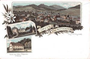 Wittengenstein North Rhine-Westphalia Germany Gruss von views antique pc Z51026