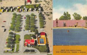 Tucson Arizona Emery Park Mobile Homes Antique Postcard J64961