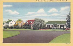 ELKTON, Maryland, 1930-1940's; Beautiful Home On Elkton Boulevard