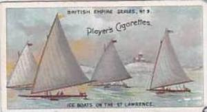 Player Vintage Cigarette Card British Empire Series No 9 Ice Boats On The St ...